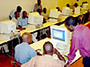 Computer classroom in Ruanda