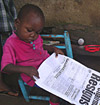 A young reader
