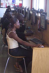 Internet cafe in Ghana