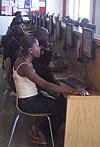 Internet cafe in Ghana