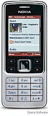 Opera browser on a Nokia