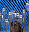 Mobile phone installation at electronics fair in Berlin
