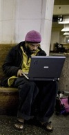 Homeless and online