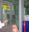 Mobile at airport