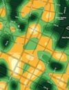 Crimespotting heat map