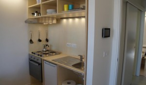 The apartment is fully furnished for 2 people, who will test the pilot house for one year.
