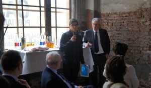 Experientia design Renzo Giusti spoke about the advanced smart meter system at the CasaZera opening.