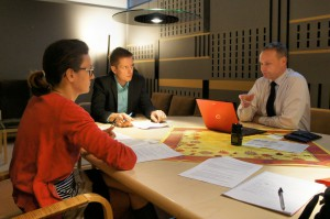 Helsinki, Finland. One of the contextual interviews with the Kalasatama district's stakeholders.