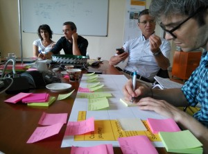The idea generation workshop held in Turin, Italy.